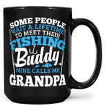 Fishing Buddy - Mine Calls Me (Nickname) - Mug - Coffee Mugs