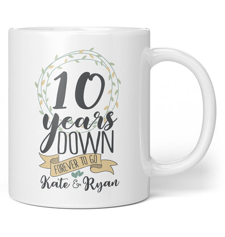 Forever to Go Personalized Anniversary - Mug - Coffee Mugs