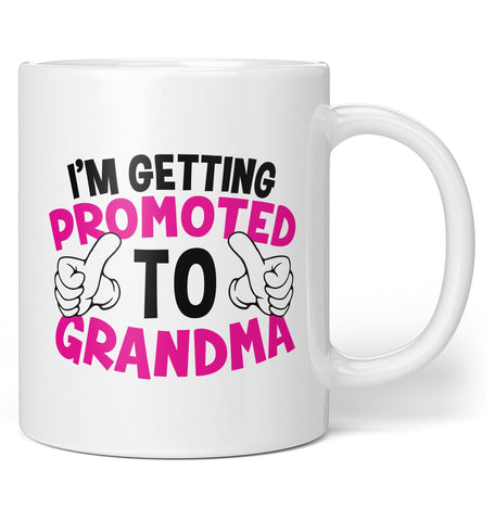 I'm Getting Promoted to (Nickname) - Pink - Personalized Mug / Tea Cup