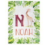 Giraffe Safari - Personalized Blanket - Blankets