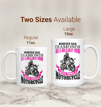Motorcycles Are a Girl's Best Friend - Mug - [variant_title]