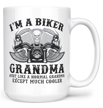 I'm a Cool Biker (Nickname) - Personalized Mug - White / Large - 15oz