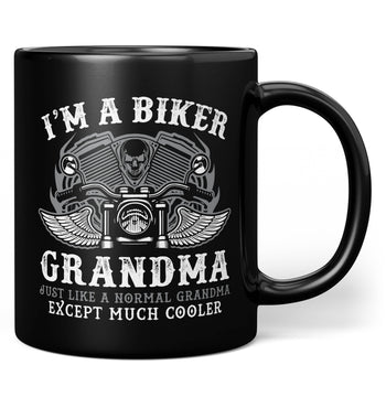 I'm a Cool Biker (Nickname) - Personalized Mug - Black / Regular - 11oz