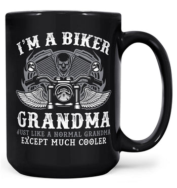 I'm a Cool Biker (Nickname) - Personalized Mug - Black / Large - 15oz