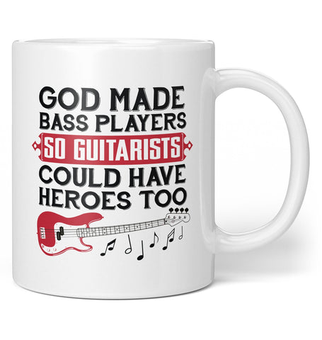 God Made Bass Player Heroes - Mug - Coffee Mugs