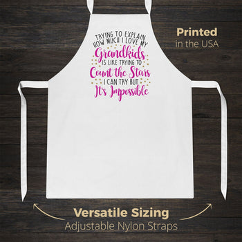 How Much I Love My Grandkids - Apron - Aprons