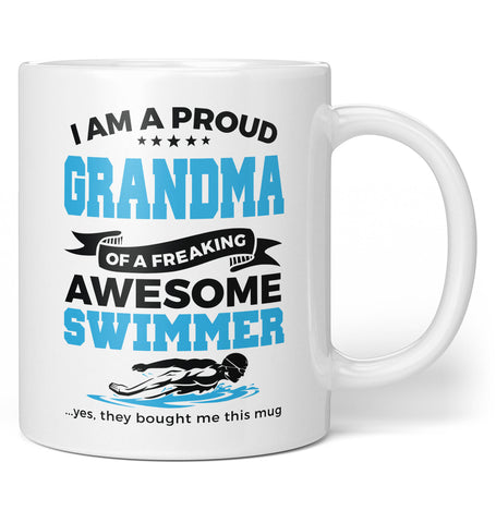 Proud Grandma of An Awesome Swimmer - Coffee Mug / Tea Cup