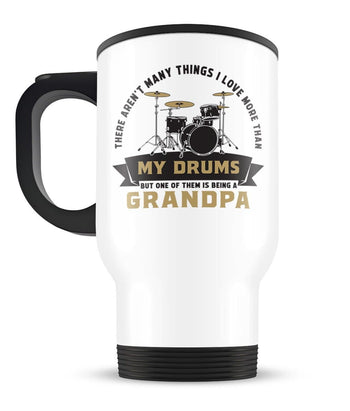 This (Nickname) Loves Drums - Personalized Travel Mug - [variant_title]
