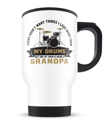 This (Nickname) Loves Drums - Personalized Travel Mug