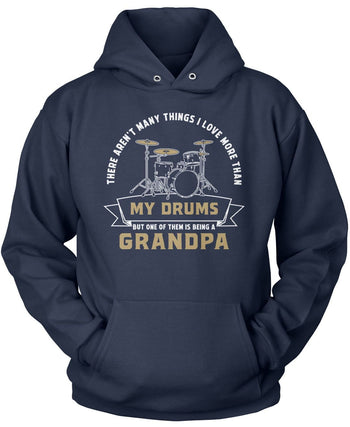 This (Nickname) Loves Drums - Personalized T-Shirt - Pullover Hoodie / Navy / S