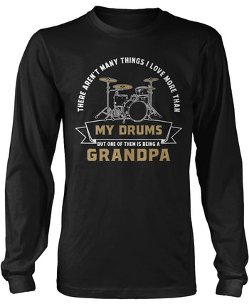 This (Nickname) Loves Drums - Personalized Long Sleeve T-Shirt