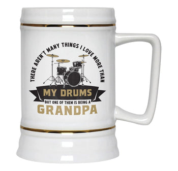 This (Nickname) Loves Drums - Personalized Beer Stein