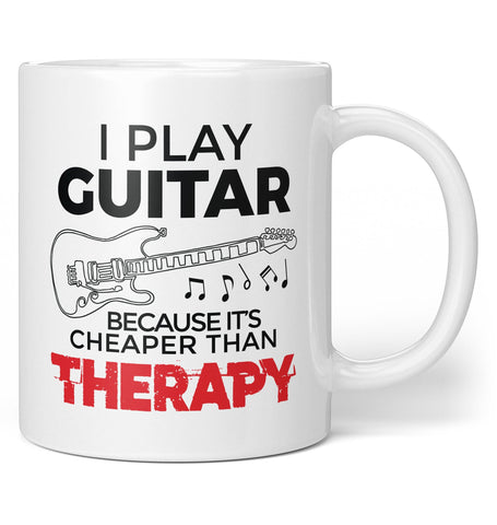 Playing Guitar Is Cheaper Than Therapy - Coffee Mug / Tea Cup