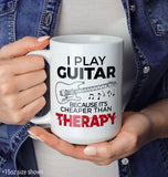 Playing Guitar Is Cheaper Than Therapy - Mug - [variant_title]