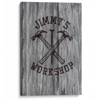 Hammer & Nail Personalized Workshop Canvas - Canvases