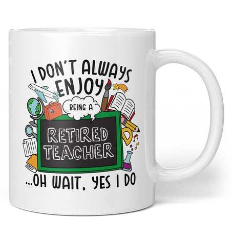 Happily Retired Teacher - Mug - Coffee Mugs