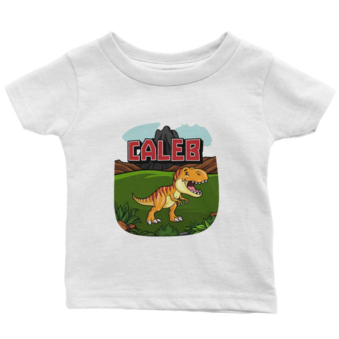 Happy Dinosaur - Personalized Infant & Toddler T-Shirt