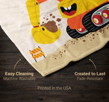 Happy Excavator - Personalized Blanket - Blankets
