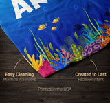 Happy Shark - Personalized Blanket - Blankets