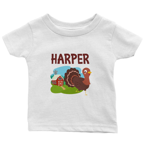 Happy Turkey - Personalized Infant & Toddler T-Shirt