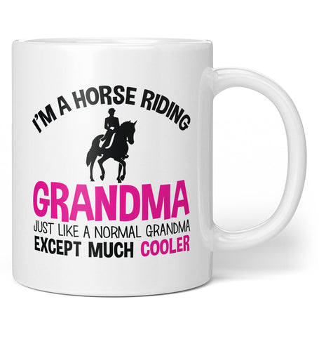 I'm a Cool Horse Riding (Nickname) - Personalized Coffee Mug / Tea Cup