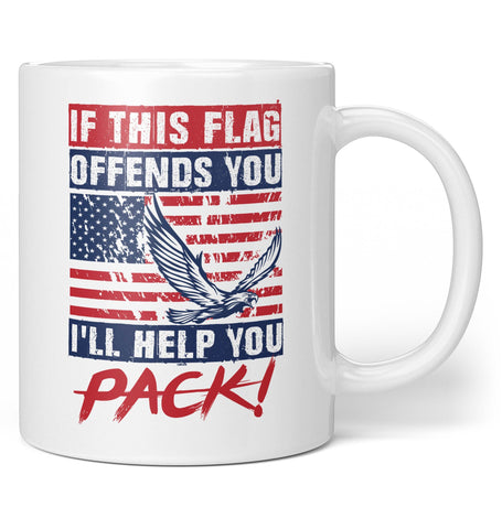 If This Flag Offends You I'll Help You Pack - Coffee Mug / Tea Cup