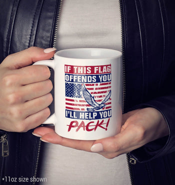 If This Flag Offends You I'll Help You Pack - Mug - [variant_title]