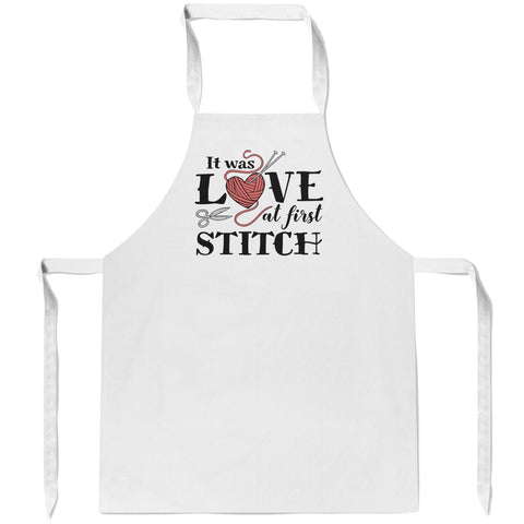 It Was Love At First Stitch - Apron
