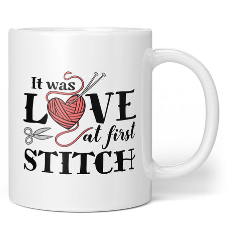 It Was Love At First Stitch - Coffee Mug / Tea Cup