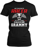 My Favorite Racer Calls Me Grammy Women's Fit T-Shirt