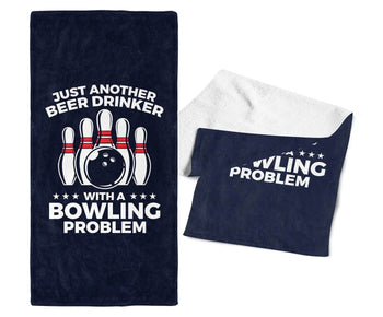 Beer Drinker with a Bowling Problem - Bar / Bowling Towel - Towels