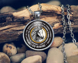 Horse Riding Serenity - Pendant Necklace - Necklaces