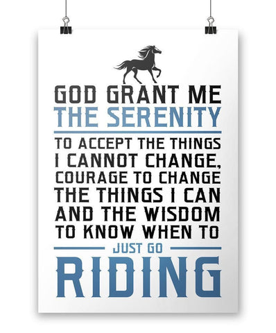 Horse Riding Serenity - Poster - Posters