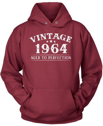 Vintage (Your Birth Year) - Personalized T-Shirt - Pullover Hoodie / Maroon / S