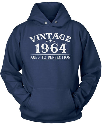 Vintage (Your Birth Year) - Personalized T-Shirt - Pullover Hoodie / Navy / S
