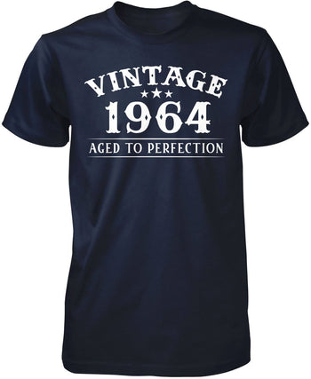 Vintage (Your Birth Year) - Personalized T-Shirt - Premium T-Shirt / Navy / S