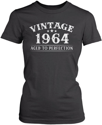 Vintage (Your Birth Year) - Personalized T-Shirt - Women's Fit T-Shirt / Dark Heather / S