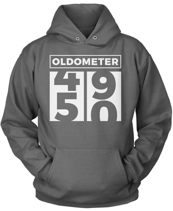 Oldometer - Turning 50 - Pullover Hoodie / Dark Heather / S