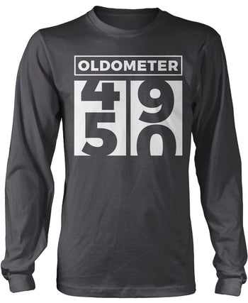 Oldometer - Turning 50 - Long Sleeve T-Shirt / Dark Heather / S