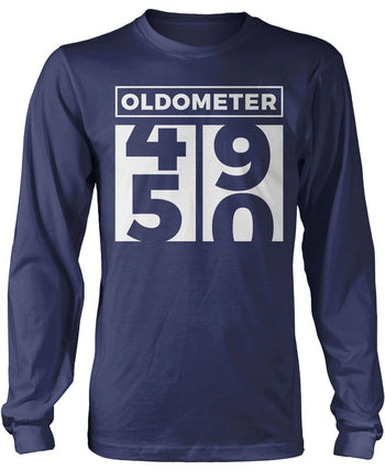 Oldometer - Turning 50 - Long Sleeve T-Shirt / Navy / S