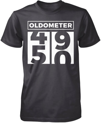 Oldometer - Turning 50 - Premium T-Shirt / Dark Heather / S