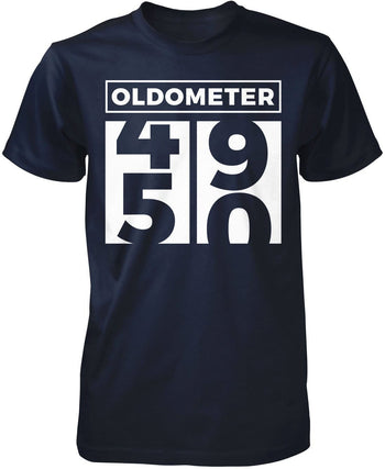 Oldometer - Turning 50 - Premium T-Shirt / Navy / S
