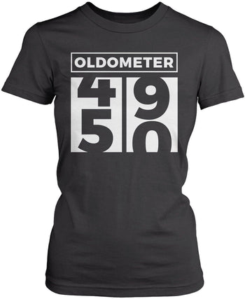 Oldometer - Turning 50 - Women's Fit T-Shirt / Dark Heather / S
