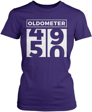 Oldometer - Turning 50 - Women's Fit T-Shirt / Purple / S