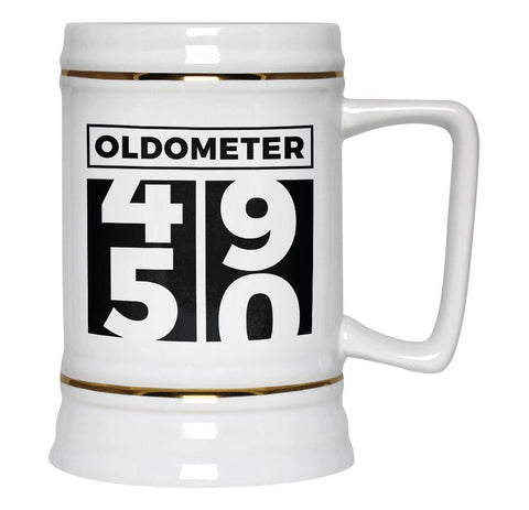 Oldometer - Turning 50 - Beer Stein