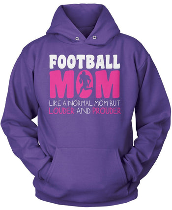 Loud and Proud Football Mom - Pullover Hoodie / Purple / S