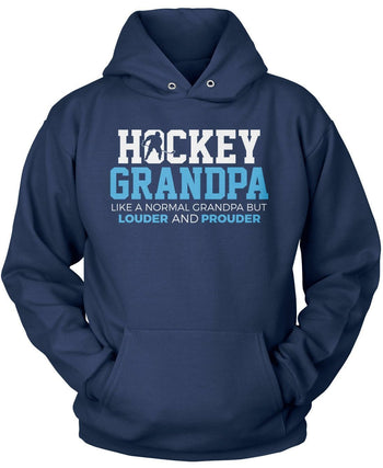 Loud and Proud Hockey (Nickname) - Blue - T-Shirt - Pullover Hoodie / Navy / S