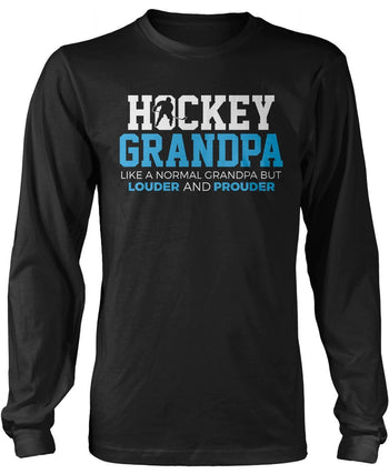 Loud and Proud Hockey (Nickname) - Blue - Longsleeve T-Shirt
