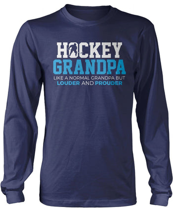 Loud and Proud Hockey (Nickname) - Blue - T-Shirt - Long Sleeve T-Shirt / Navy / S