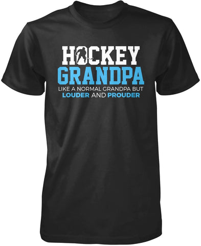 Loud and Proud Hockey (Nickname) - Blue - T-Shirt